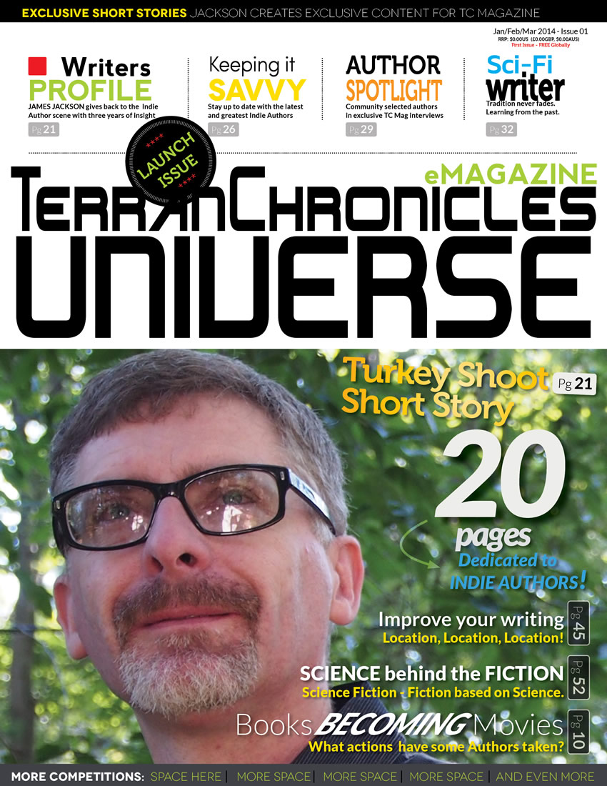 Concept cover design for the Terran Chronicles eMagazine with anticipated features for the first publication