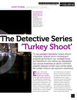Design and article layout for the Terran Chronicles eMagazine The Detective Series