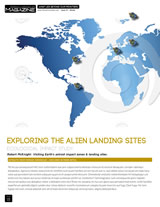 Design and article layout for the Terran Chronicles eMagazine article Alien Landing Sites