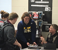 Terran Chronicles book signing at Mount Pleasant High School with James Jackson, author of the Terran Chronicles